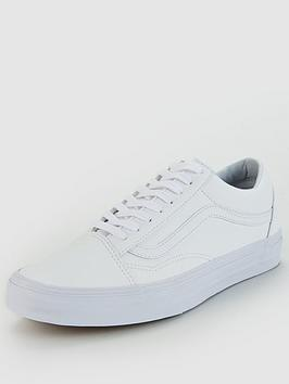 vans-old-skool-leather-whitenbsp