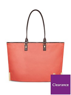 moshi-aria-ladies-lightweight-slim-tote-amber-orange