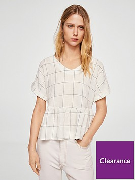 mango-peplumnbsphigh-low-blouse-white