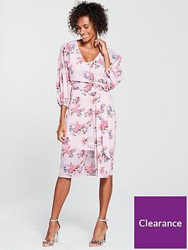 mango-floral-midi-dress-pink