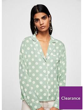 mango-polka-dot-blouse-pastel-green