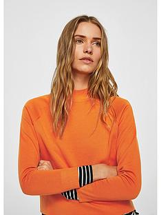 mango-mangonbsphigh-collar-sweater-orange