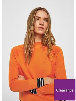 mango-mangonbsphigh-collar-sweater-orange