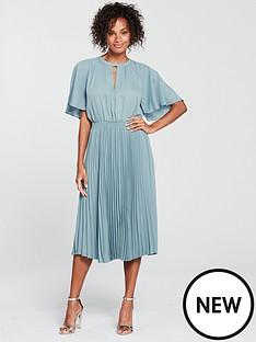 mango-pleated-skirt-dress