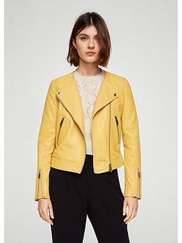 mango-zip-leather-jacket-pastel-yellow