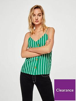 mango-buttoned-stripe-cami-greenwhite