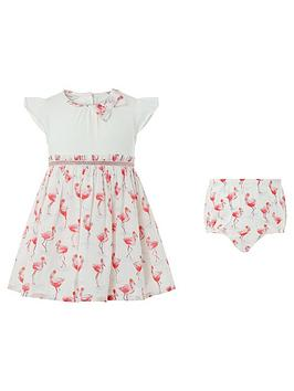 monsoon-newborn-baby-freya-flamingo-dress