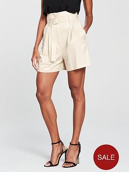 mango-smart-belted-short