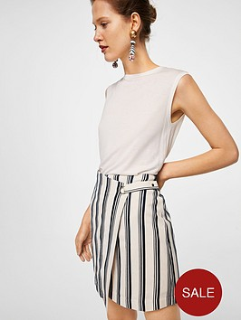 mango-stripe-eyelet-wrap-skirt