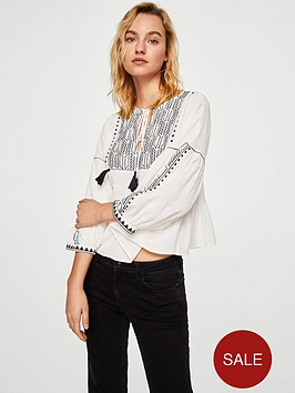 mango-embroidered-tassel-blouse-off-white