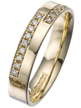 Love DIAMOND Love Diamond 9Ct 18 Point Diamond 4Mm Wedding Ring Picture