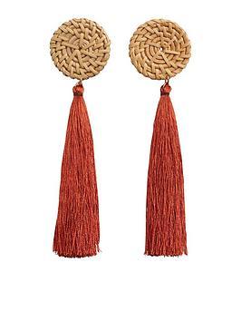 mango-tassel-earrings-deep-orange