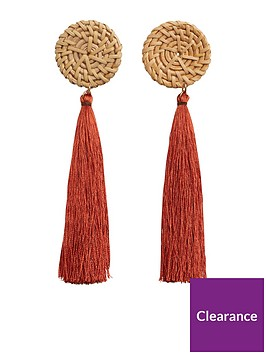 mango-tassel-earrings-deep-orange