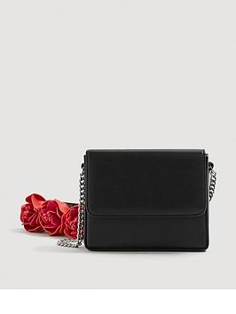 mango-3dnbspfloral-crossbody-bag-black