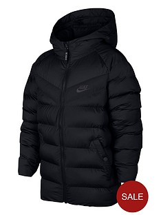 nike-nike-older-boys-nswnbspfilled-hooded-jacket-black
