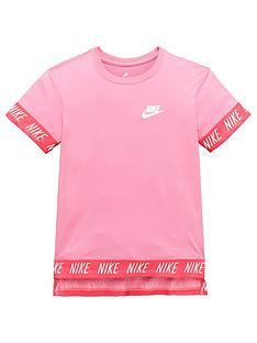 nike-older-girls-hi-low-tape-tee-pinknbsp