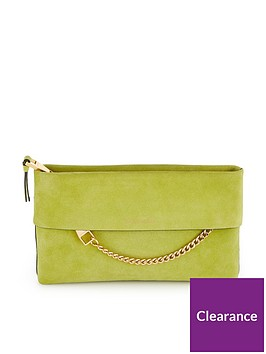 karen-millen-chain-detail-clutch-bag-lime