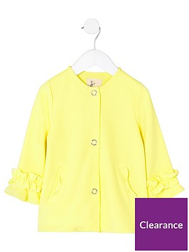 river-island-mini-girls-yellow-frill-cuff-button-up-jacket