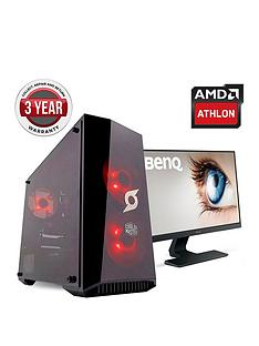 zoostorm-stormforce-onyx-amdnbsp200ge-processornbsp8gbnbspramnbsp2tbnbsphard-drive-gaming-pc-with-238-inch-benq-full-hd-monitor