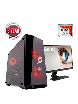 zoostorm-stormforce-onyx-amd-a8-processornbsp8gbnbspramnbsp1tbnbsphard-drive-gaming-pc-with-238-inch-benq-full-hd-monitor