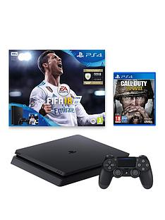 playstation-4-ps4-500gb-fifa-18-console-and-call-of-duty-wwii