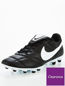 Mens Premier Firm Ground Football Boot - Black/White