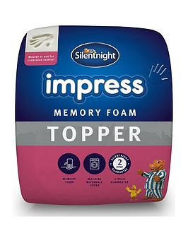 silentnight-luxury-impress-7cm-memory-foam-mattress-topper