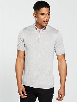 river-island-slim-fit-embroidery-polo