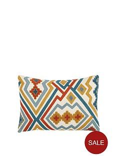 gallery-kazaar-hand-embroidered-cushion-ochre-and-blue