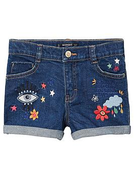 mango-girls-ebroidery-denim-short