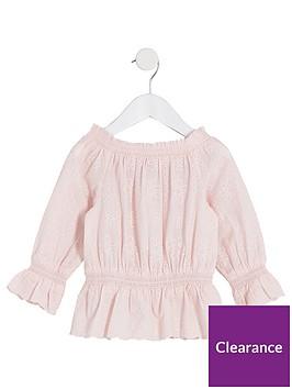 river-island-mini-girls-pink-broiderie-bardot-top