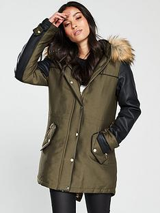 v-by-very-faux-leopard-lined-parka-khakiblack