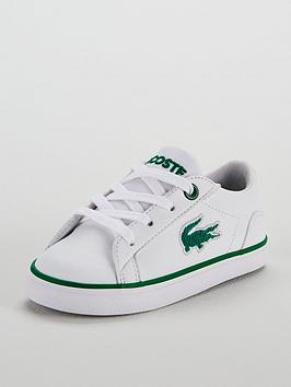 lacoste-lacoste-infant-lerond-318-flocked-lace-up-plimsoll