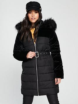 v-by-very-velvet-mix-padded-coat-black