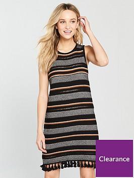 river-island-stripe-tasselnbsphem-knitted-dress-black
