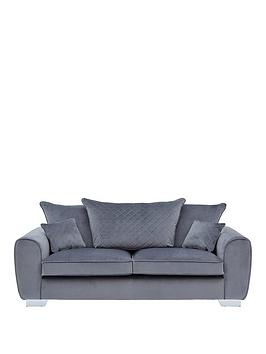 Very Vibe Fabric 3 Seater Scatter Back Sofa Picture