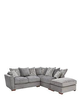 Very Kingston Fabric Right Hand Scatter Back Corner Chaise Sofa With  ... Picture