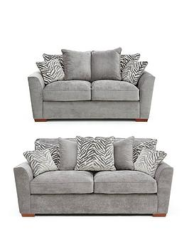 Very Kingston Fabric 3 Seater + 2 Seater Scatter Back Sofa Set (Buy And  ... Picture