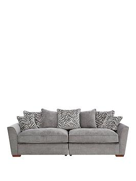 Very Kingston Fabric 4 Seater Scatter Back Sofa Picture