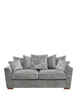 Very Kingston Fabric 3 Seater Scatter Back Sofa Picture