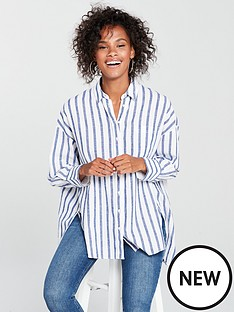 tommy-jeans-oversized-stripe-shirt-whiteblue