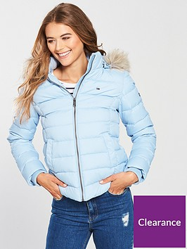 72e07a864dd8 Tommy Jeans Essential Hooded Down Jacket - Skyway