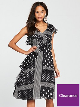 river-island-river-island-spot-ruffle-waisted-dress--black