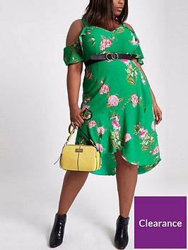 ri-plus-printed-ruffle-waisted-dress-green