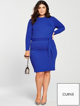 v-by-very-curve-jersey-crepe-pencil-dress-electric-blue