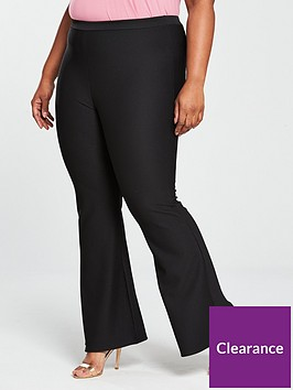 v-by-very-curve-kickflare-jersey-rib-trouser-black