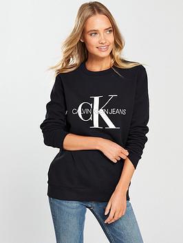 Calvin Klein Jeans Calvin Klein Jeans Monogram Logo Sweatshirt - Ck Black Picture