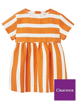 mango-baby-girls-stripe-textured-dress-burnt-orange