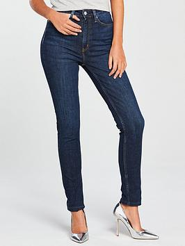 Calvin Klein Jeans   High Rise Skinny Jean - Amsterdam Dark Blue