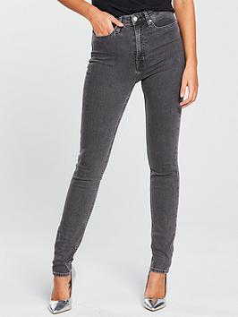Calvin Klein Jeans   High Rise Skinny Jean - Stockholm Grey